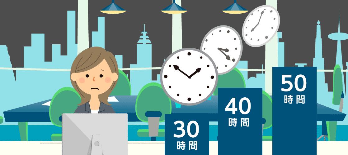 みなし残業30時間、40時間、50時間