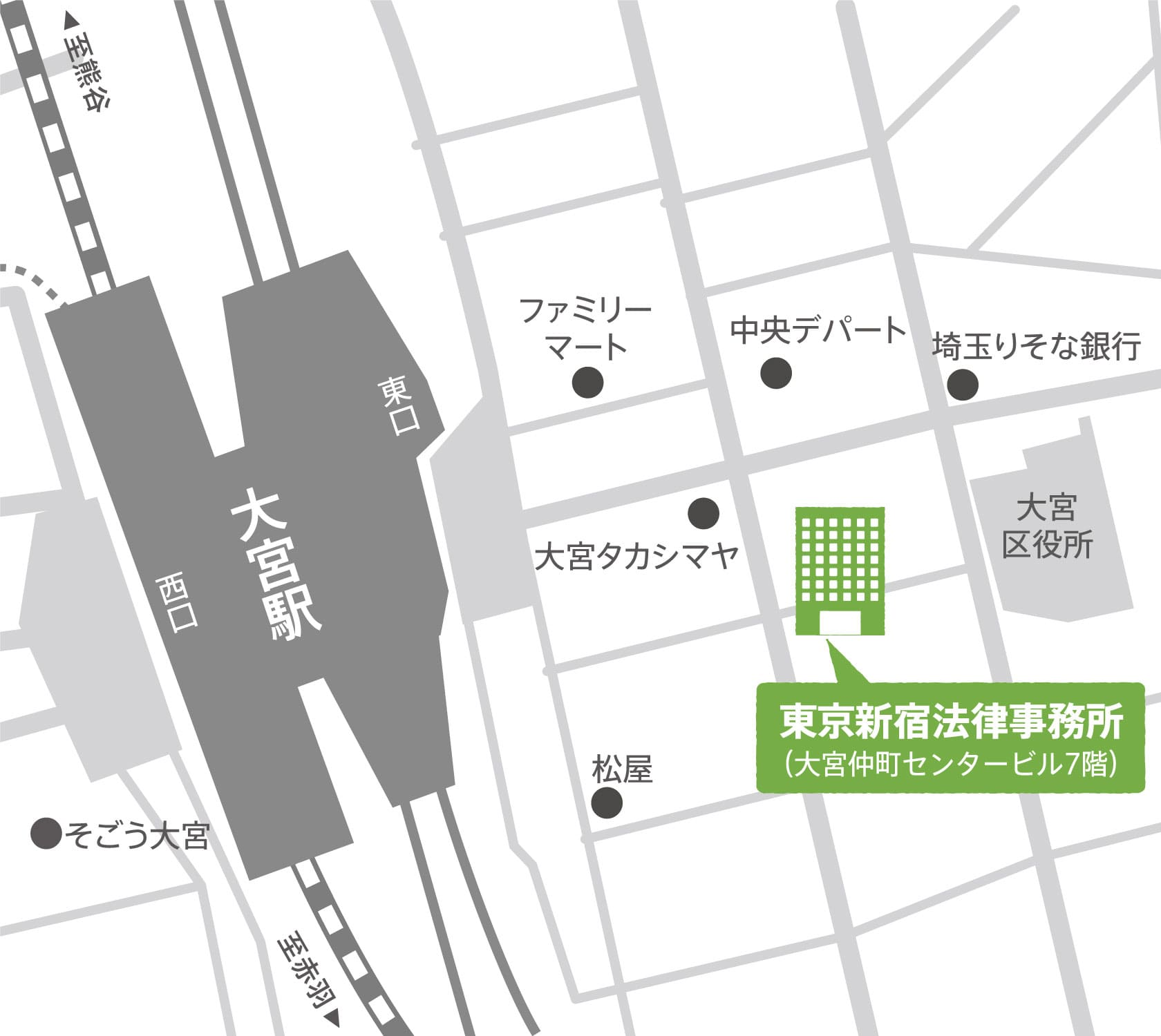 地図:大宮支店