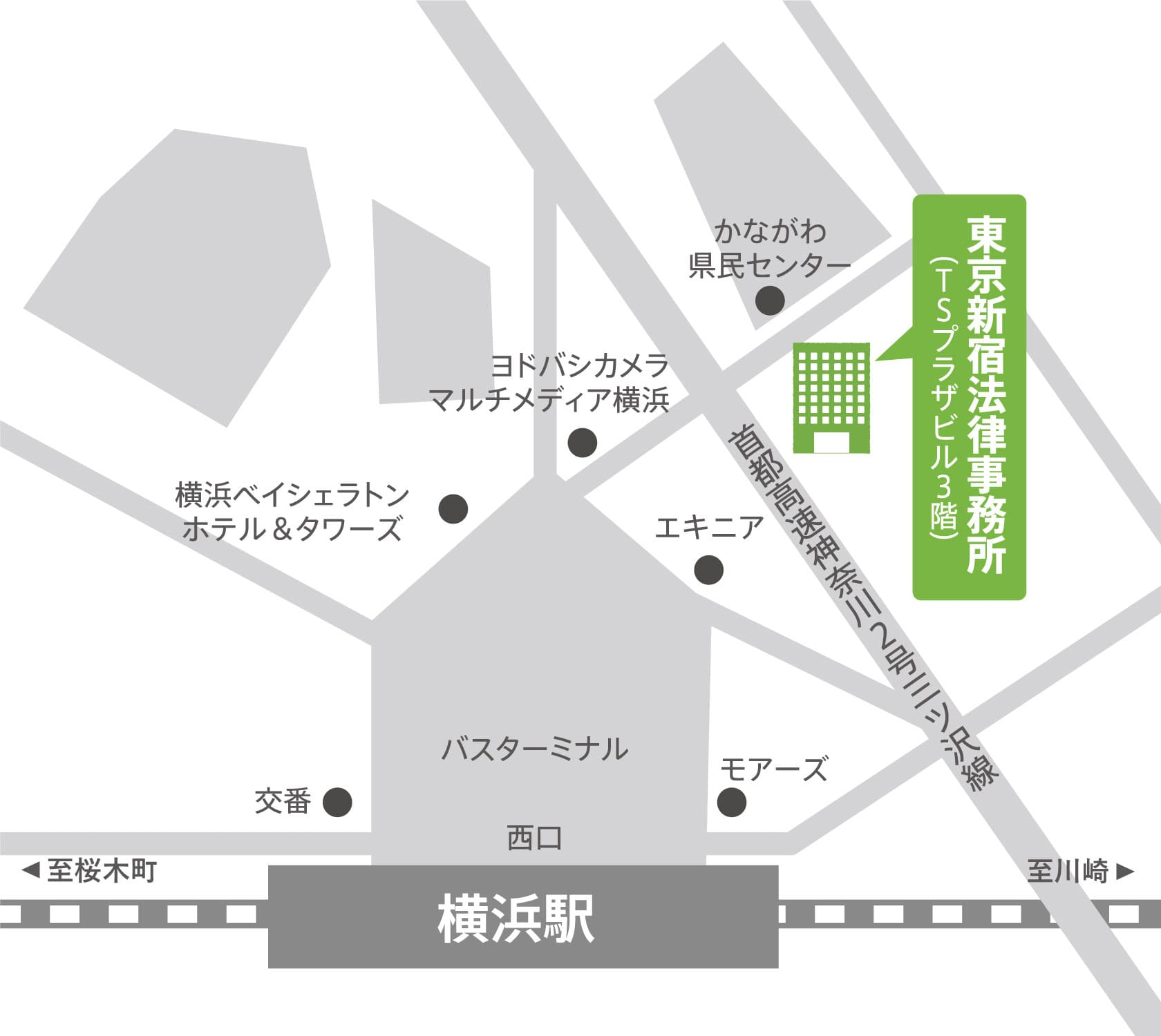 地図:横浜支店